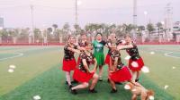 建群村广场舞草原风格《红马鞍》演示建群姐妹2017年最新广场舞带歌词