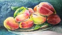 【暖熊绘画教程】蜜桃绘画技法--水彩视频教程