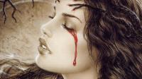 女子患怪病 流泪时眼睛流出红色泪水