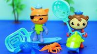 海底小纵队水上玩具 呱唧猫和谢灵通潜水抓大龙虾