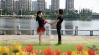 广场双人舞北京平四交谊拉手对跳 动作简单欢快热情奔放