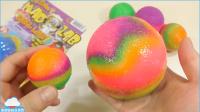 大橡胶弹力球玩具 手工DIY颜色闪光泥泥塑料粘土自制玩具头条视频【俊和他的玩具们
