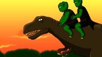 原创动画《外星兄弟》第10集:恐龙狂奔在魔星!