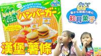 汉堡薯条自己做 食物玩具 日本DIY 知育果子系列 食用玩具 有趣食玩