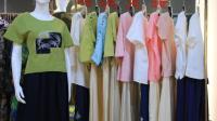 阿邦服装批发-时尚外贸原单棉麻两件套20套起批--675期