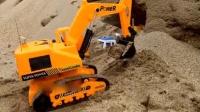 挖掘机视频表演大全 儿童大吊车儿工作视频