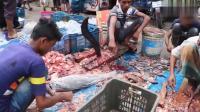 印度展示七伤刀法! 海鲜市场开挂切鱼刀