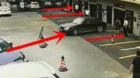 开车的会是女司机吗? 一旁四五个保安大哥被吓得一动不动!