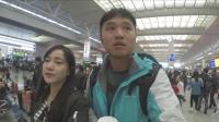 台湾人在大陆坐高铁, 大陆火车站实在是太大了, 不用跑真不行
