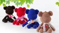 猫猫编织教程  网红暴力熊(1)  钩针毛线编织教程  猫猫很温柔