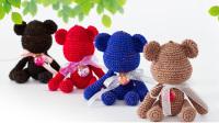 猫猫编织教程 网红暴力熊(2)钩针毛线编织教程  猫猫很温柔