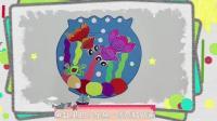 鱼缸里的小金鱼-创意粘贴画