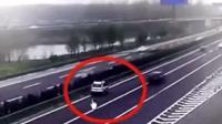 《交通出行》白色SUV高速出口犹豫不决, 真是害人害己, 教训惨痛!