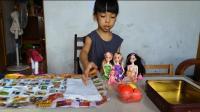 亲子过家家玩具22 芭比娃娃梦幻衣橱玩具女孩过家家娃娃生日礼物礼盒 芭比公主露营野餐 开心时刻与玩具介绍2017 小猪佩奇与芭比娃娃的游乐场 小猪佩奇玩具视频