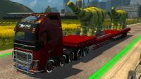 欧洲卡车模拟2 山路十八弯一路堵车 超重货物拉不动
