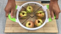 """""""切瓜神器""""切5个苹果只需1秒, 简单省力还不用刀, 你信吗?"""