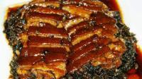 梅干菜扣肉的做法视频教程 四川特色菜梅菜扣肉食谱 日本食玩 大胃王吃播