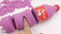 太空沙玩法手工DIY颜色粘液闪光组合 北美国玩具视频天使沙【 俊和他的玩具们