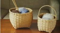 藤篓--宽纸藤编织--花纸物语