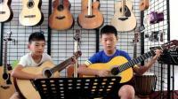 古典吉他二重奏《但愿人长久》济源原声琴行 小学员的展示