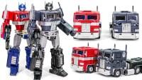 变形金刚音波连五盒带擎天柱护航 车载机器人车玩具大全 男孩子玩具【俊和他的玩具们