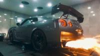 2017款日产GT-R改装排气 暴力喷火