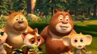 熊出没之熊熊乐园 熊大熊二变交通警察战大老鼠第115期筱白解说