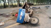 【事故警世钟】奥迪车开挂超速撞散农用三轮车这个交通事故太严重了176期