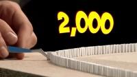 全球最小的多米诺骨牌, 创下世界纪录! 专治各种强迫症!