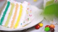 3分钟教你做超省事又零失败彩虹蛋糕