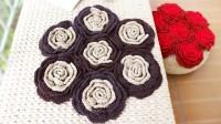 织一片慢生活-----玫瑰花花型坐垫