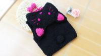 织一片慢生活----黑色猫咪马甲毛衣编织教程