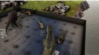 方舟生存进化 2个霸王龙VS30个牛龙 暗墨解说VS系列