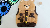 织一片慢生活-----泰迪熊马甲毛衣编织教程