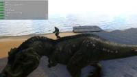 方舟生存进化 2个霸王龙VS30个迅猛龙 暗墨解说VS系列