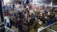 实拍佛山鱼贩争地盘 数十人参与打群架