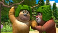 熊出没之熊熊乐园 熊大熊二带花的草坪第120期筱白解说