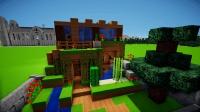 minecraft创意建筑: 生存中单人独立小屋