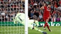 欧冠附加赛英文集锦: 利物浦4-2霍芬海姆 晋级欧冠正赛