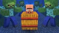 我的世界-Minecraft村民对抗僵尸的故事【3】