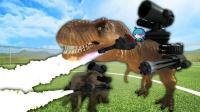 野兽进化战争模拟器 超新星机械霸王龙武装大象开炮喷火超能机械超兽武装外星龙 搞笑视频