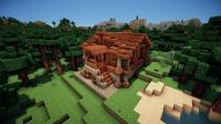 minecraft创意设计: 制作一个12X11x7伐木屋