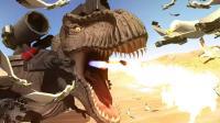 「野兽战争模拟器」小鸟VS重机枪火炮? 恐龙战队足球赛! 决战Boss机械霸王龙! 小格解说