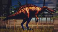 侏罗纪世界游戏 恐龙公园 第42期 恐龙团队 遭遇天敌剑角龙 恐龙联盟 陌上千雨