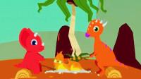 侏罗纪世界总动员 恐龙公园第二期 三角龙沙滩探险和好友野外烧烤篝火晚会 陌上千雨
