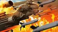 小飞象✘野兽战争模拟器✘侏罗纪公园霸王龙坦克大战搞笑足球比赛