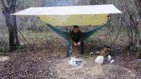 古村落野营, 制作香喷喷叫花鸡, 美味惬意!