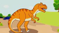 恐龙公园 宝宝恐龙世界第四期 霸王龙异特龙剑龙 简介认知喂食 跨栏比赛 陌上千雨
