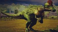 侏罗纪世界 恐龙公园第47期霸王龙异齿龙包头龙组队挑战 包头龙锁定胜局 陌上千雨