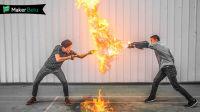小伙的拳头能喷火,3000度高温,方圆5米都被点燃!